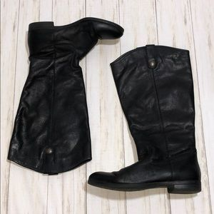 Leather Riding Style Boots